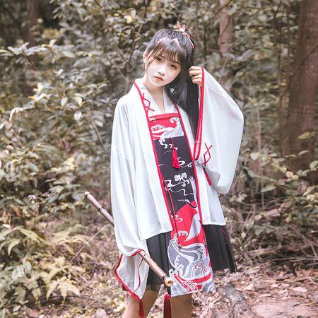 鹿韵记原创设计改良汉服女款绣花外套披风春夏薄款日常汉元素