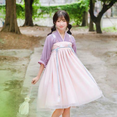 鹿韵记原创设计改良汉服女款绣花齐胸襦裙高腰春下日常汉元素