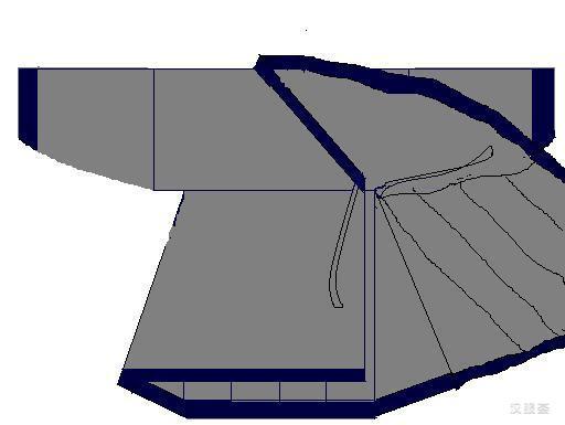 深衣结构平面图