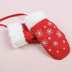重回汉唐 绣花手套可爱女加绒加厚 学生冬季挂脖保暖汉服配饰元素