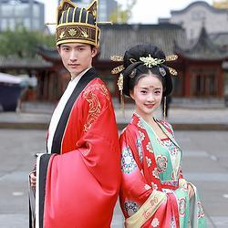 重回汉唐 长相守 汉服男女唐制婚服中式时代婚礼古风刺绣套装定制