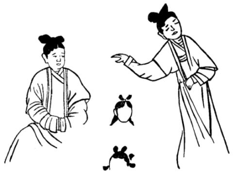 汉族服饰简笔画