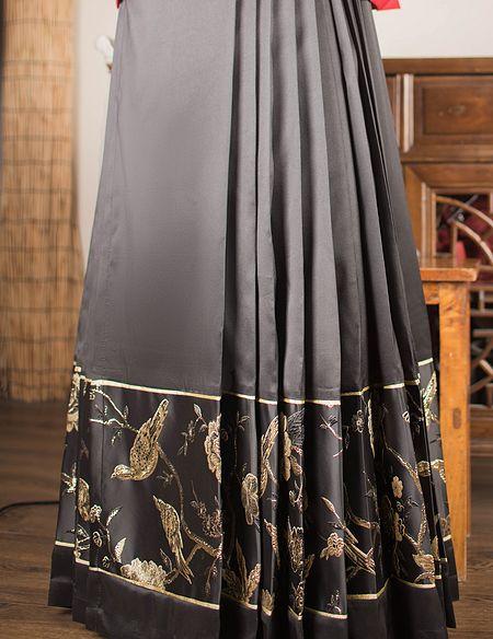 禅山记 汉服 改良马面裙 一片式马面裙 梯形摆马面 提