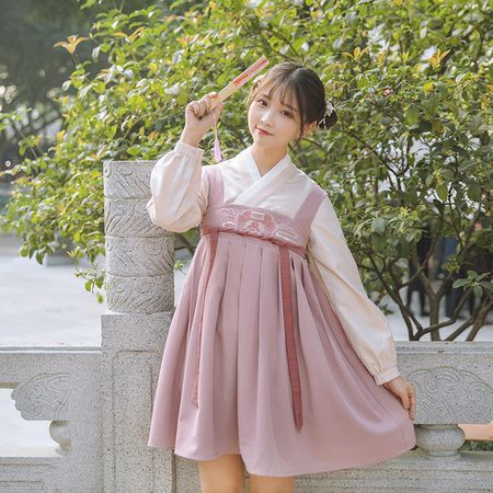 鹿韵记原创设计改良汉服女装交领齐胸襦裙连衣裙汉元素日常春夏款