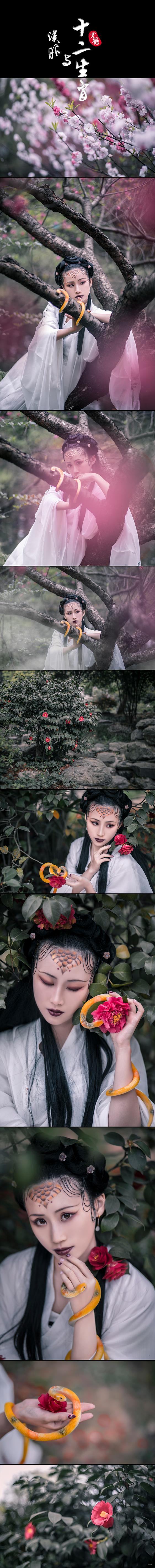 《汉服与十二生肖——巳蛇》#黄鹤摄影作品#
