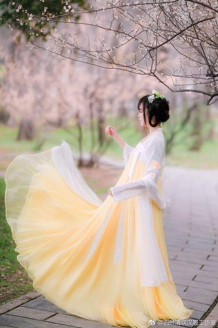【四时清欢】小黄鹂,六米摆两片式齐胸,汉元素