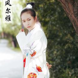 【素风尔雅】凤仙  秋装中国传统 汉服  绣花褙子  男女通用款
