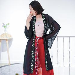 黑雾传统褙子(长) 宋裤 (改良松紧)   汉服 汉元素