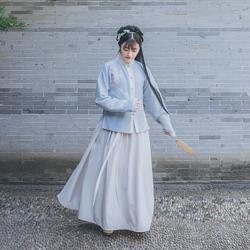 她说传统汉服女绣花立领对襟长褶裙(199两件一起拍不参与满减)