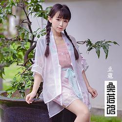 【桑落馆】现货 豆蔻华年 短宋裤褙子套装