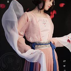 剑三衍生唐制齐腰襦裙之七秀——水榭花盈(披帛已改色升级)