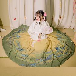 她说汉服千里江山传统汉服马面裙日常褶裙女装下裙