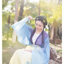 浮庄摇滟系列之【摇滟】觀止茶舍汉服女装对襟齐腰工字褶襦裙春夏