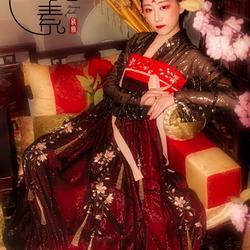 【售罄】{墨姬} 纨素 两片式桃花流苏银丝皱汉服齐胸齐腰裙套装
