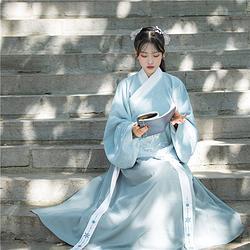 【凉音】国色芳华原创汉服女中国风日常交领袄裙刺绣套装秋冬新款