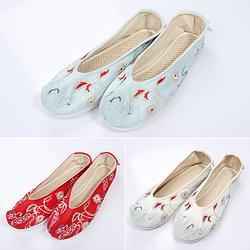 【羽轻如云】国色芳华传统汉服女鞋搭配饰弓鞋千层底日常搭配三色