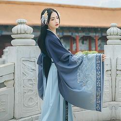 汉尚华莲x仙剑3合作款【龙葵】传统汉服女装对襟襦裙大袖衫日常秋
