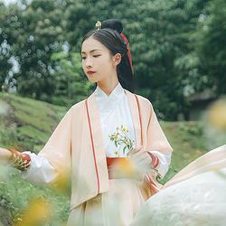汉尚华莲x仙剑3合作款【雪见】交领襦裙传统汉服女装搭配半臂日常