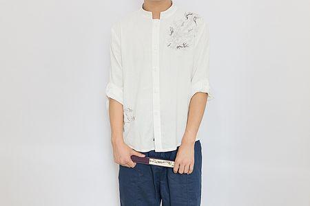 【玉芝瑛—踏炎】汉元素男装春秋款衬衣t恤男款汉元素 现货
