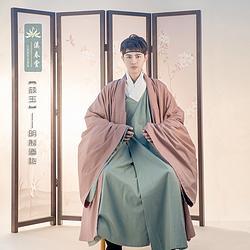 溪春堂【颜玉】原创设计 明制道袍男装披风传统汉服中国风