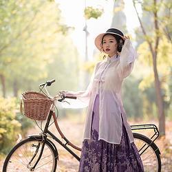 售罄 采梦集 昆仑虚 原创时尚日常汉服渐变蕾丝6米绣花马面套装