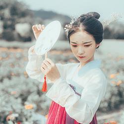 【卯卯】现货原创日常6米大摆传统汉服齐胸女装刺绣玉兔齐腰襦裙