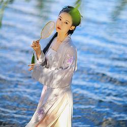 黎落阁 映月仙 传统日常汉服女绣花长褙子吊带中国民族风春秋冬装