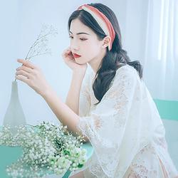 汉尚华莲汉服女装改良明制半袖对襟外披日常搭配单品蕾丝边镂空