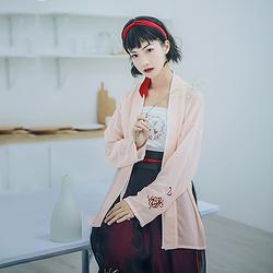 汉尚华莲离琴传统汉服女装彼岸花刺绣对襟褙子宋裤套装夏款日常
