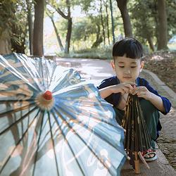 彧卿轻奢原创设计 清仓特价 汉服配饰限量版儿童 传统铜油油纸伞