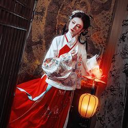 钟灵记飞鸾交领汉服女琵琶袖明制袄裙配马面裙传统秋红色短袄套装