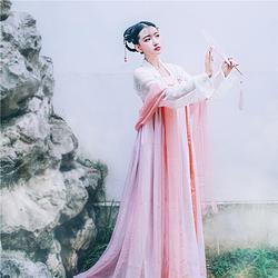 【绯棠】国色芳华传统汉服女 襦裙齐胸襦裙对襟女汉服夏装女套装