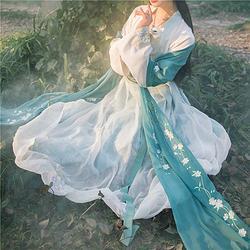 【花下眠】国色芳华原创独家绣花披帛汉服搭配百搭齐胸对襟襦裙