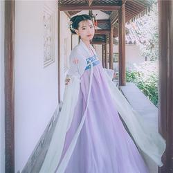 【远黛】国色芳华传统汉服女齐胸对襟襦裙原创春夏款绣花学生