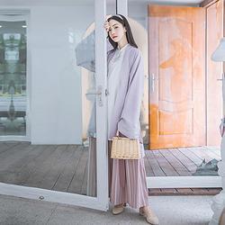 汉尚华莲传统汉服女刺绣长褙子袴裤长衫套装日常时尚风温柔秋装