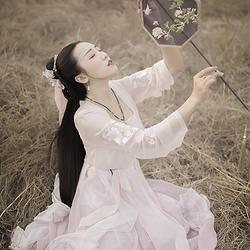 采梦集 桃花扇 原创时尚日常汉服刺绣花齐腰对襟襦裙6米摆