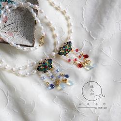 故人归古风手作软璎珞天然珍珠项链文艺复古风饰品毛衣链秋冬必备