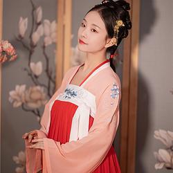 汉懿阁【采桑子】原创中国风齐胸上襦汉服女6米摆绣花汉服雪纺超