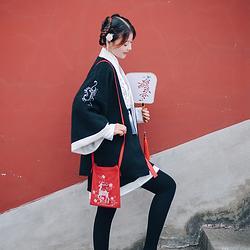 花朝记汉服原创设计刺绣斜挎小包萌物、绣花百搭配饰多色款式