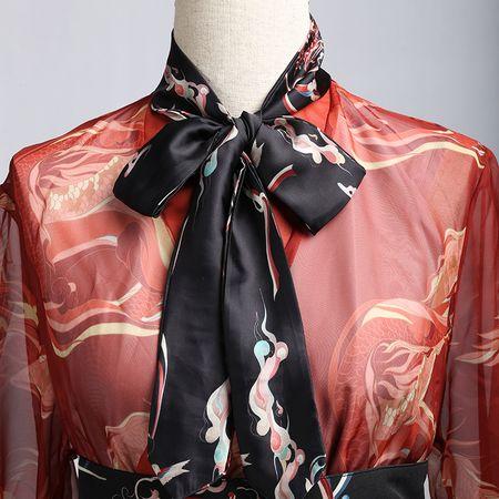 彧卿轻奢原创设计 汉服周边配饰山海经蓬莱系列—超时尚印花发带