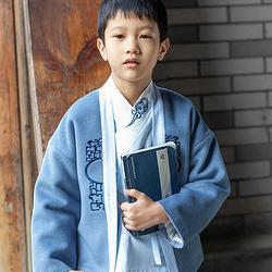 重回汉唐清乐儿童汉服男童交领上衣褙子下衣裤子套装中国风国学服