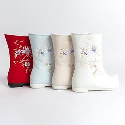 重回汉唐雪琉璃雪地靴女汉服鞋子女冬加绒棉鞋民族风绣花复古短靴