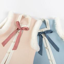 重回汉唐 藤铃 比甲童装汉服女童中国风新年童装外套加绒保暖冬季