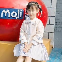 重回汉唐姗然汉服女装儿童宝宝秋冬季保暖外套中国风新童装女童裙