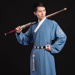 重回汉唐汉服夏装男款骐麟日常传统中国民族风刺绣直裰原创