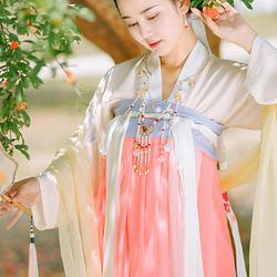濯锦阁新品原创设计传统汉服女装夏季6米大摆齐胸襦裙 宁浅