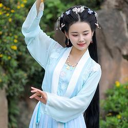濯锦阁新品原创设计传统汉服女夏季淡雅齐腰襦裙  远香