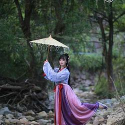 【青袂坊】汉服魏晋交领襦裙间色裙——沧海泪 全款定制