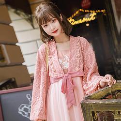 鹿韵记原创改良汉服女日常复古可爱提花两件套装汉元素服饰秋款