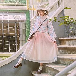 鹿韵记原创改良汉服女装琉璃月印花上衣搭配日常夏秋季下裙汉元素